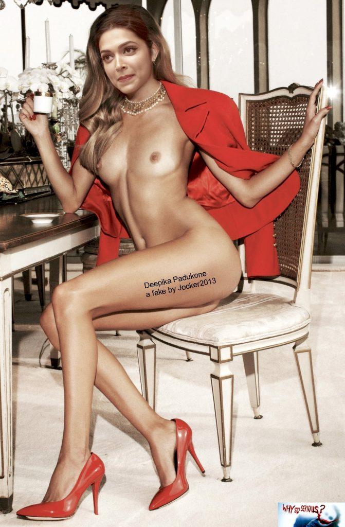 Full nude Indian actress Deepika Padukone naked body photo 1