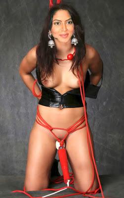 Nude bondage photo Kavita Kaushik tied sex naked slave