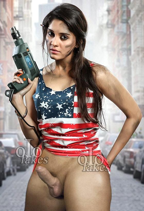 Shemale actress Surabhi having cock nude xxx pic