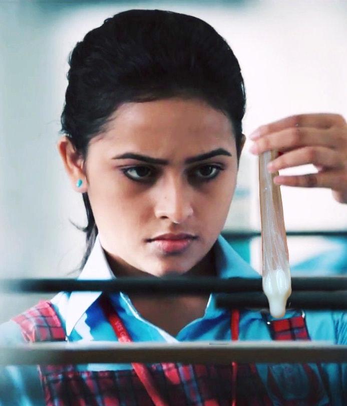 Sri Divya having condom with sperm