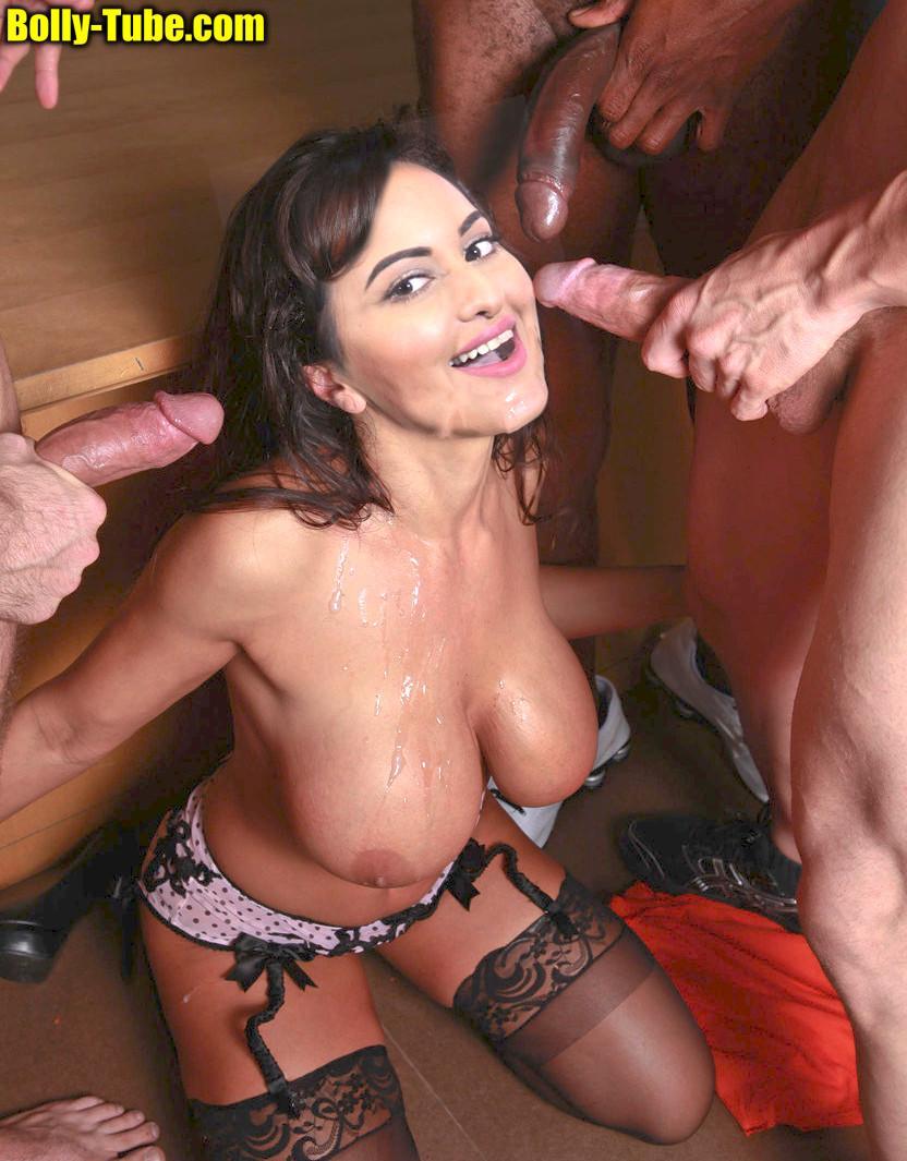 Sonakshi Sinha naked big boobs cumshot gangbang xxx