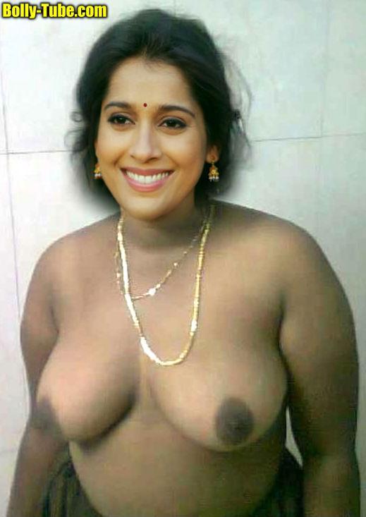 Sexy Rashmi Gautam topless black nipple nude image without bra