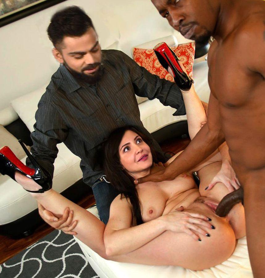 Anushka Sharma cuckold sex black cock fucking her shaved pussy
