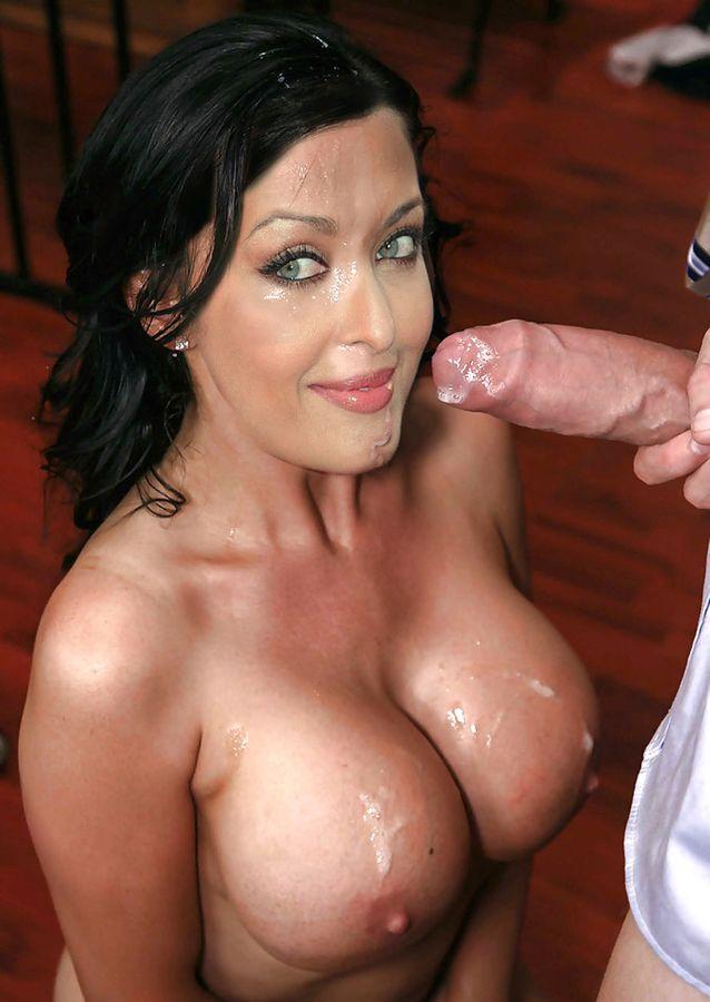 Cum on Aishwarya Rai boobs after blowjob naked cumshot