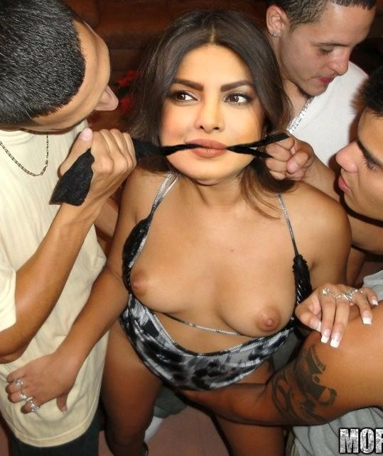 Priyanka Chopra forced pussy fingering mouth tied party