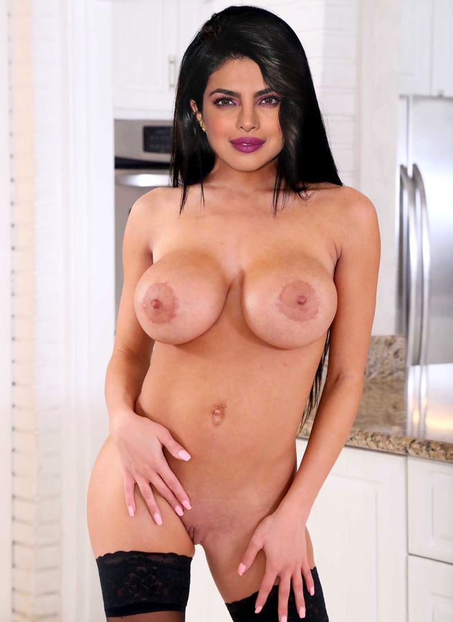 Sexy shaved pussy Priyanka Chopra big fake boobs naked