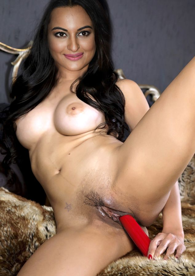 XXX naked Sonakshi Sinha masturbating her pussy with dildo