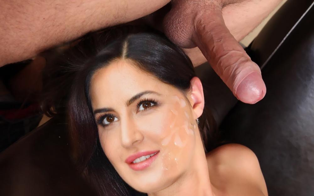 Katrina Kaif cum facial naked cum on her face without condom, Bolly Tube