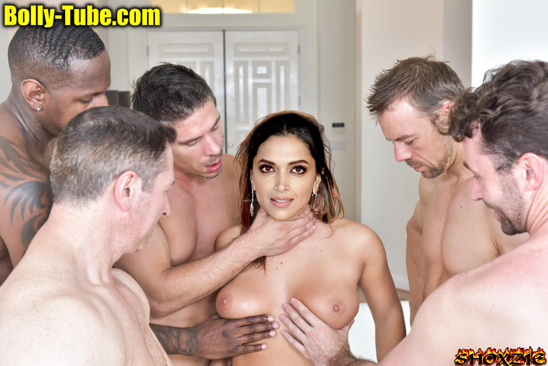 Topless Deepika Padukone boobs pressed forced for gangbang