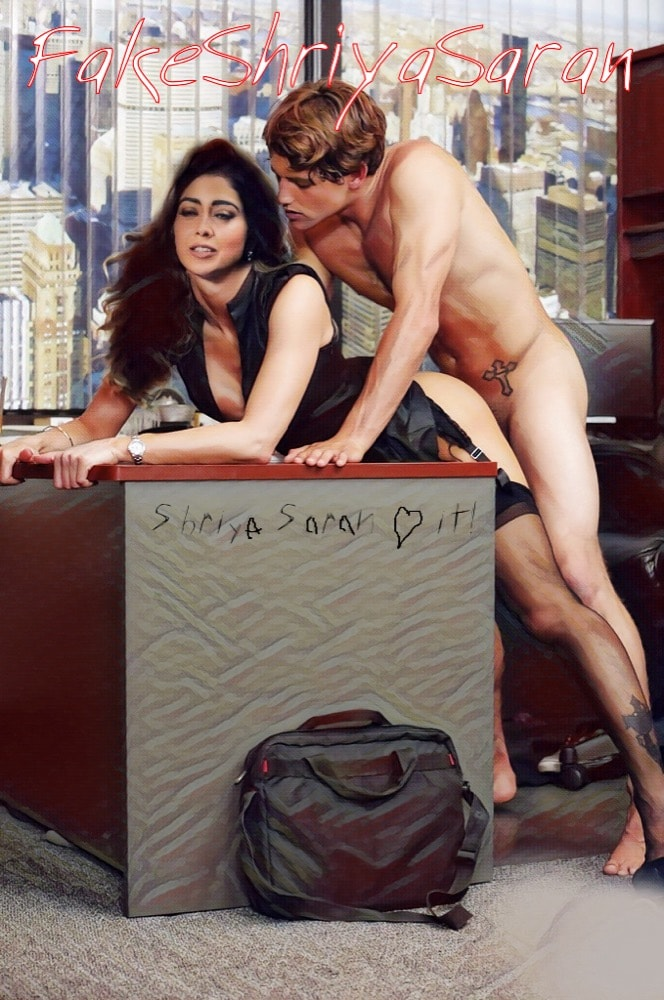 Hot actress Shriya Saran ass fucked in producer table pic