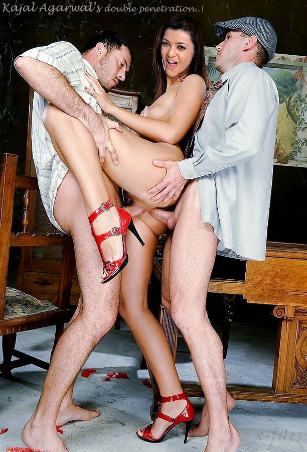Kajal Agarwal Double penetration nude fake actress