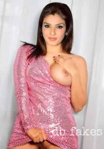 Raveena Tandon one side boobs showing naked pussy actress photo