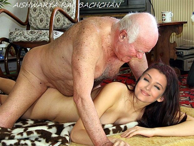 Aishwarya Rai Bachchan having sex with fat oldman her ass getting fucked