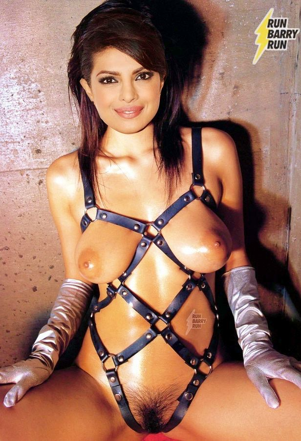 Priyanka Chopra tied bondage nude boobs and hairy pussy pic