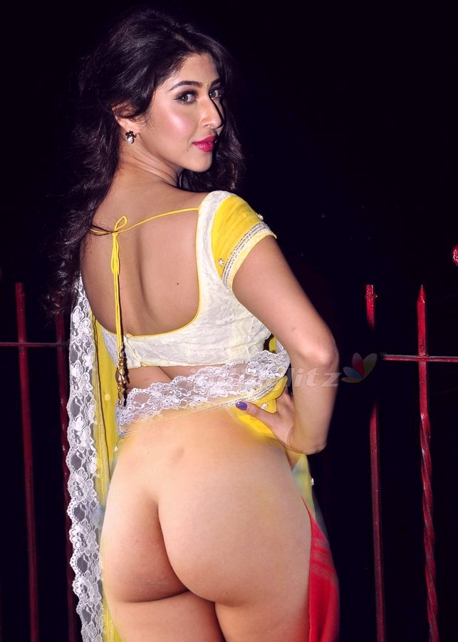 Sonarika Bhadoria nude ass image without panties in back pose