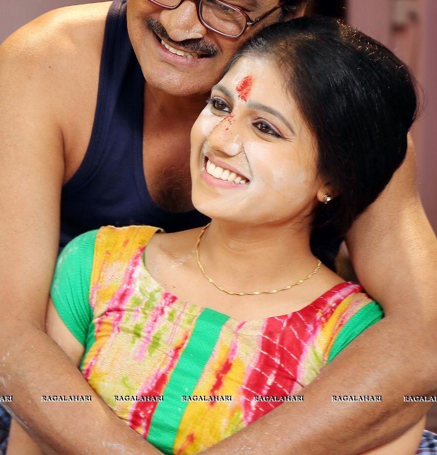 Harshita Panwar boobs pressed in hot blouse xxx Telugu actress stills