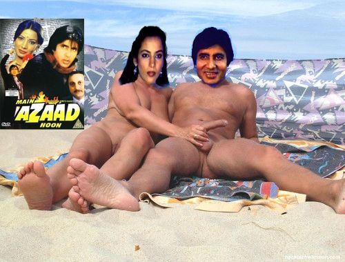 Jaya Bachchan hand job Amitabh Bachchan cock in outdoor shot when they was young