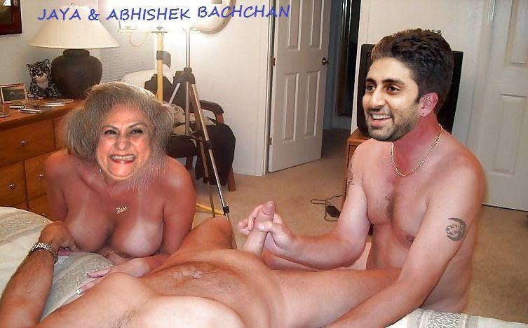 Jaya Bachchan naked Abhishek Bachchan hand job nude cock nude pics