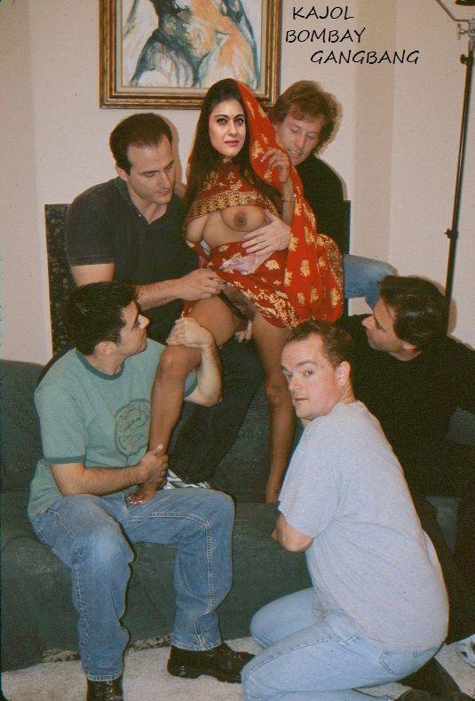 KAJOL STARS IN BOMBAY GANGBANG hairy pussy fingering boobs press