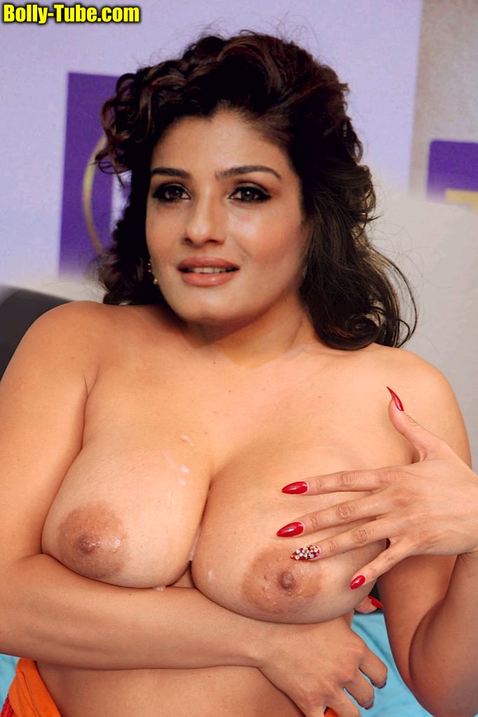 Raveena Tandon Nude hot nipple Nude boobs without bra Naked body