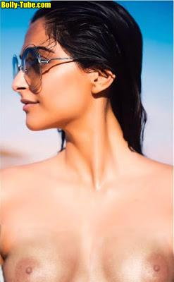 Small tits Sonam Kapoor naked nipple without bra pic