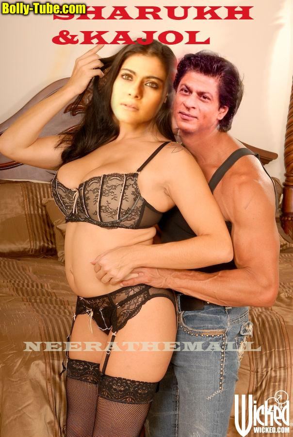 Kajol black bra and panties without dress
