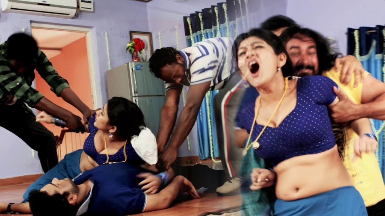 Sona Chabra Hot Scene | Villain Removing Dress | Actress Hot Dress Removing
