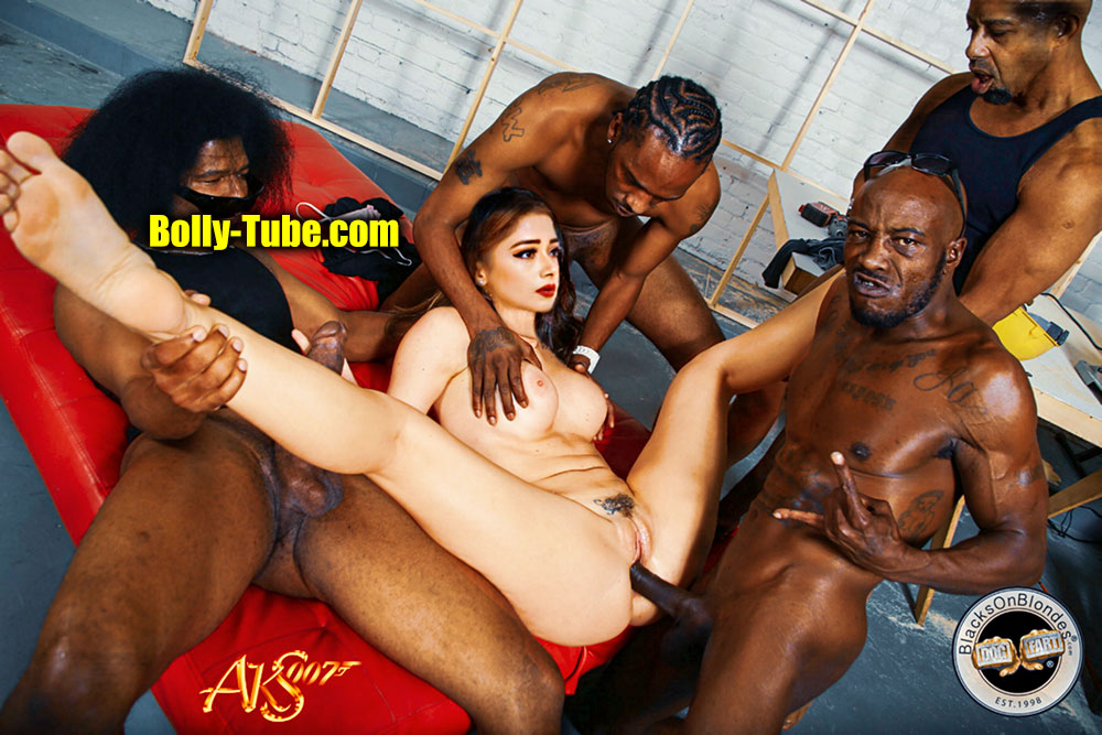 Full nude Tina Datta 5some sex fucking big black cock photo