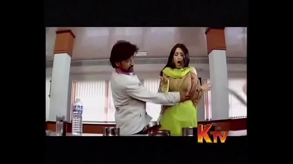 Sexy Tamanna small boobs pressed and touch by SJ Surya video